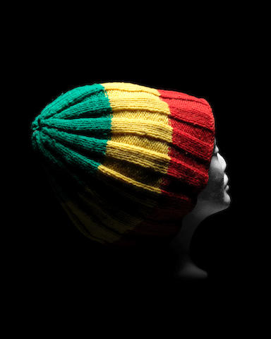 Bob Marley: An iconic knitted rastahat owned and worn by Bob Marley in his video for 'Is This Love', 1977-78,