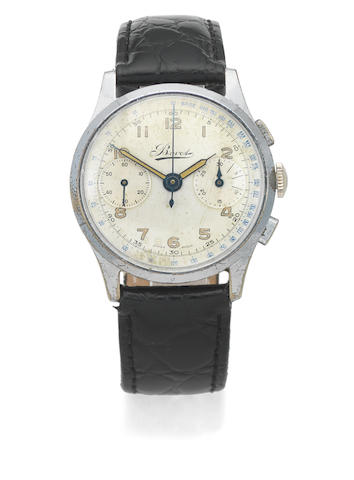 Bovet. A steel manual wind chronograph wristwatch Circa 1940