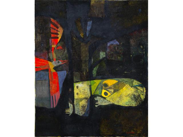 Dia Azzawi (Iraq, born 1939) Bird of Death