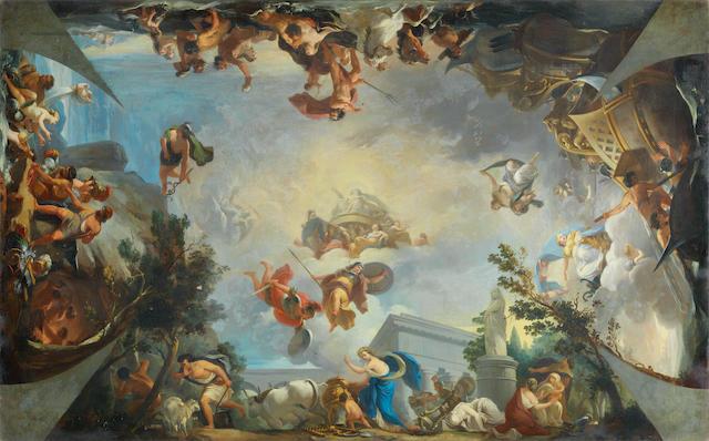 Attributed to Zacarías González Velázquez (Madrid 1763-1834) The Triumph of the Gods