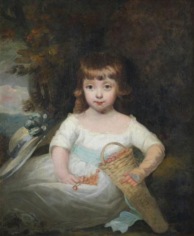 John Hoppner R.A. (London 1758-1810) Portrait of a young girl, said to be a Stanley of the Derby family,