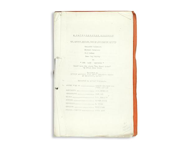 The Lady Vanishes: A script, Gainsborough Pictures, The Gaumont British Picture Corporation Ltd., 1938,