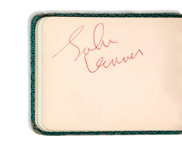 The Beatles: A John Lennon autograph, circa 1964,