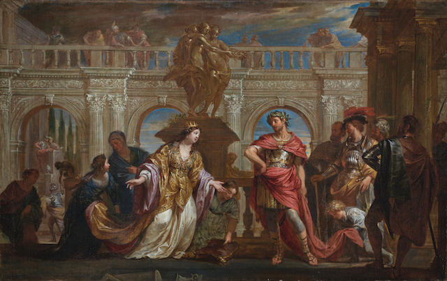 Flemish School, 17th Century Alexander and the Family of Darius unframed