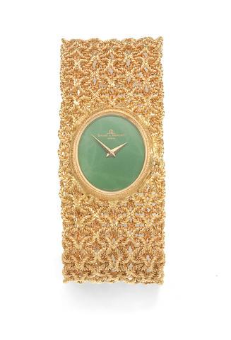 Baume & Mercier. A lady's 18K gold manual wind bracelet watch Ref: 38232 2, Circa 1970
