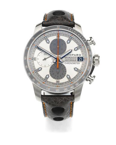 Chopard. A stainless steel automatic calendar chronograph wristwatch  Gand Prix de Monaco Historique, Ref: 168570-3002, No.010/500,