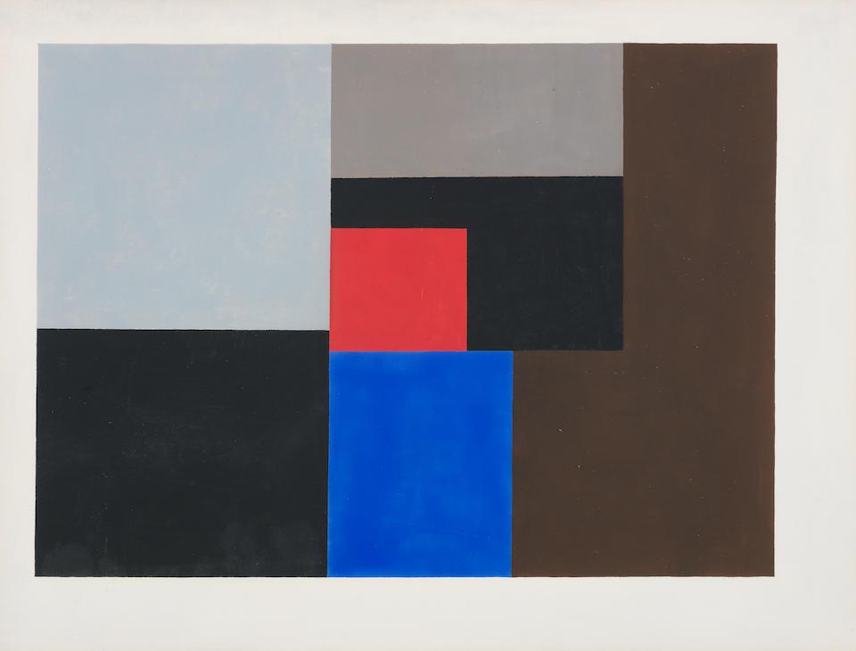 Ben Nicholson O.M. (British, 1894-1982) 1936 (gouache) 38.1 x 50.2 cm. (15 x 19 3/4 in.)