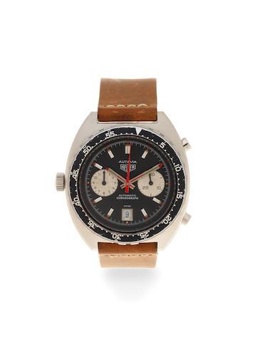 Heuer. A stainless steel automatic calendar chronograph wristwatch  Autavia, Ref: 11630, Circa 1970