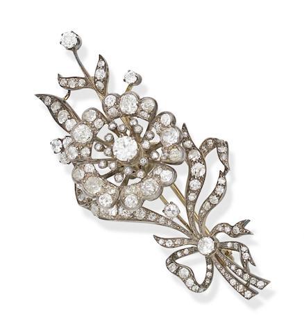 A late 19th/early 20th century diamond spray brooch