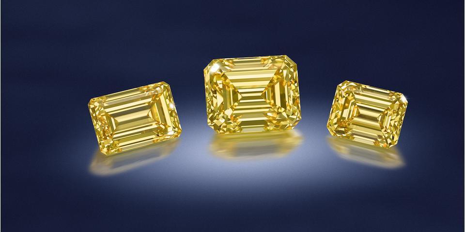 A fancy-coloured diamond and diamond brooch