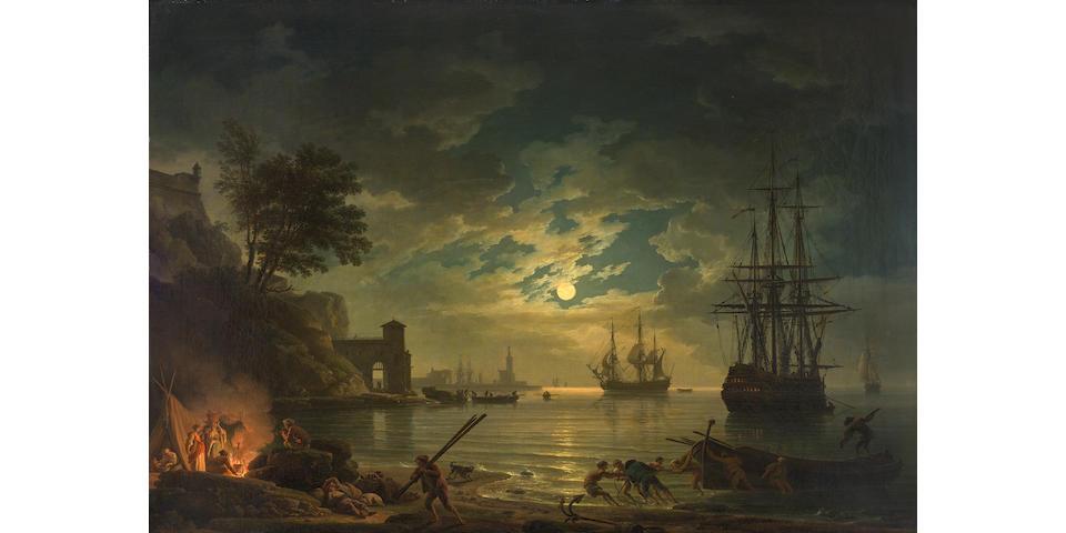 Claude Joseph Vernet (Avignon 1714-1789 Paris) Clair de lune