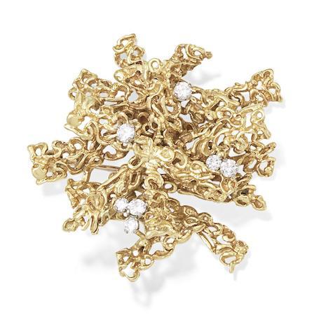 A diamond brooch, by Kutchinsky, 1971