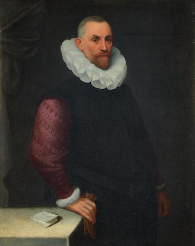Attributed to Cesare Aretusi (Bologna 1549-1612) Portrait of a gentleman, three-quarter-length,