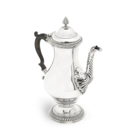 A George III silver coffee pot by Francis Crump, London 1771
