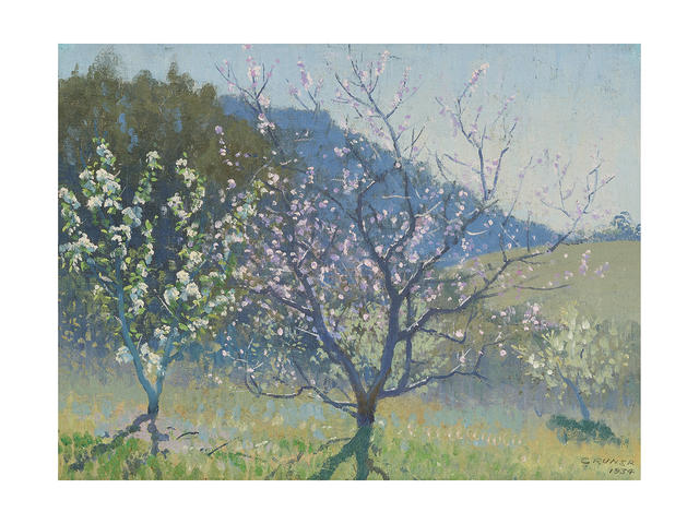 Elioth Gruner (1882-1939) The Orchard, 1934