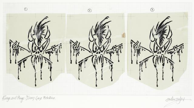 METALLICA: 'Scary Guy', Three original master artworks, 1993,