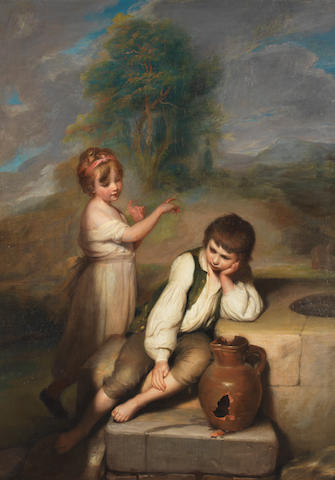 Richard Morton Paye (Kent circa 1750-1821 London ?) Portrait of a sulky boy
