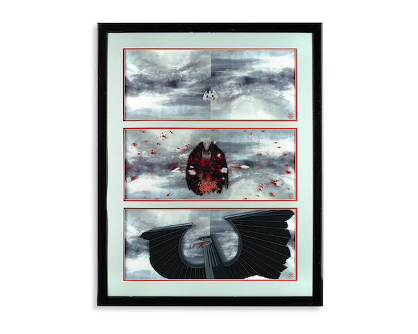 Pink Floyd: Three original animation art cels of 'The Eagle of War' from The Wall, MGM/UA Entertainment Company, 1982,