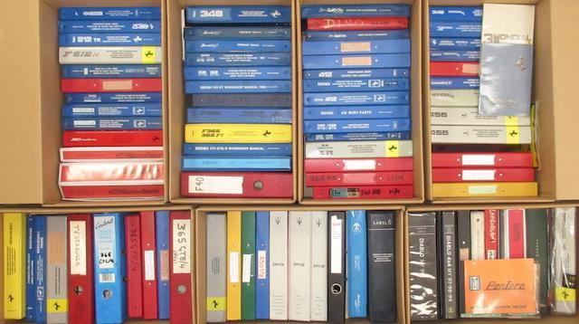 A quantity of assorted Ferrari workshop manuals and technical literature,   ((Qty))