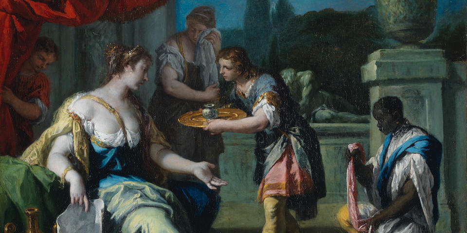 Sebastiano Ricci (Belluno 1659-1734 Venice) Sofonisba accepting the poison unframed