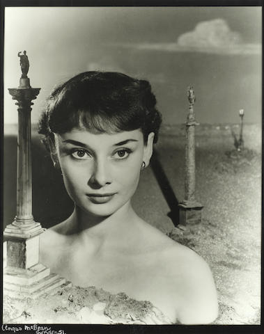Angus McBean (Welsh, B.1904 - D.1990): Audrey Hepburn, London 1951,