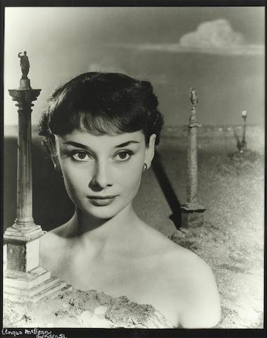 Angus McBean (Welsh, B.1904 - D.1990): Audrey Hepburn, London 1951,