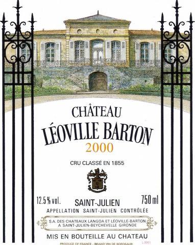 Château Léoville Las Cases 1996 (1 jeroboam) Château Léoville Barton 2000 (6 magnums) Château Léoville Poyferré 2008, St Julien 2me Cru Classé (1 double-magnum)