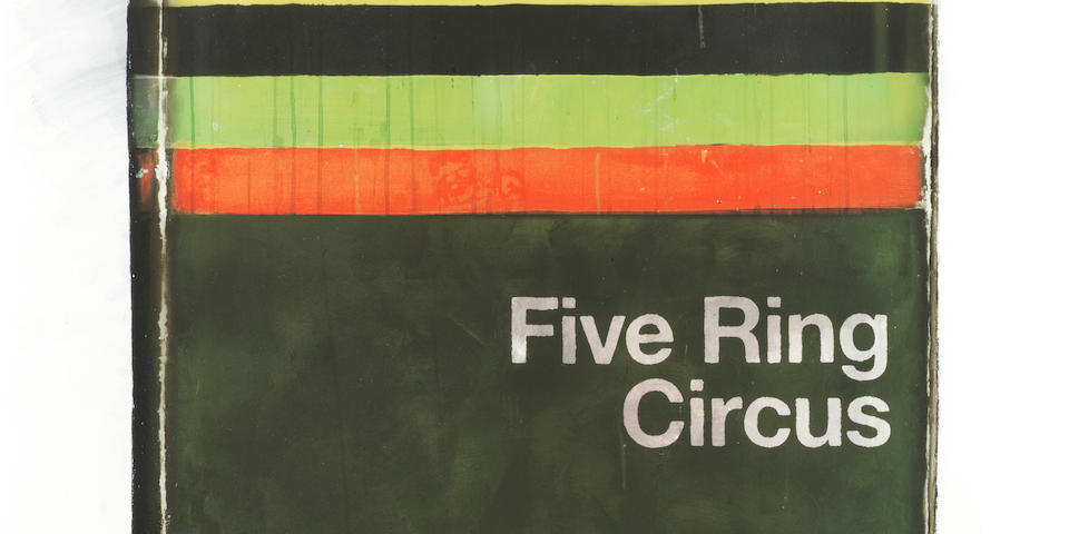 Harland Miller (British, born 1964) Five Ring Circus-It's All Fun and Games Till Someone Loses an Eye Giclée print in colours, 2012, on German etching paper, signed, dated and numbered 46/50 in pencil, published by Ingleby Gallery, Edinburgh, 962 x 660mm (37 7/8 x 26in)(SH)