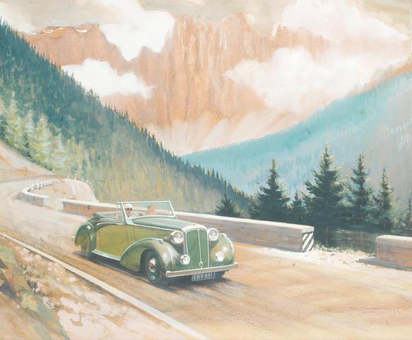 Roy Nockolds (1911-1980), 'Daimler in Dolomites',
