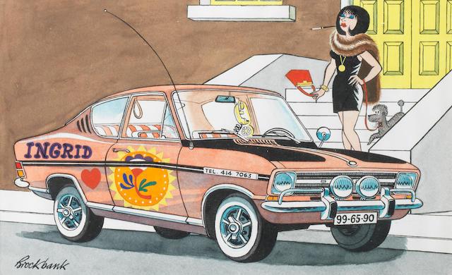 Russell Brockbank (1913-1979), Three large colour motoring cartoons,  ((3))