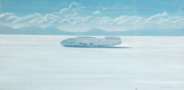Two World Land Speed Record paintings,  ((2))