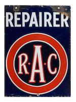 A rare early RAC enamel sign for Dorchester, circa 1910,  ((4))