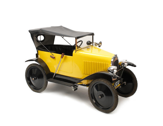 A good Citroën open seat touring pedal car, produced by the Lely Small Car Co. England, Car No. LSC 67