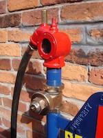 A Bennett bulk tank Motor Oil pump,