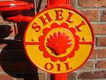 A pre-war bulk tank Shell oil pump,