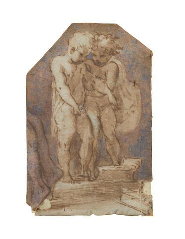 Girolamo Francesco Mazzola, called il Parmigianino (Parma 1503-1540 Casal Maggiore) Two putti