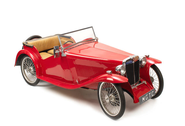 An MG TC Child's car by Timeless Toys, British, mid to late 1940s,