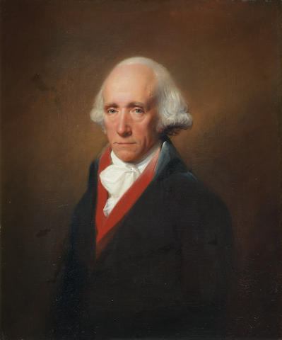 Lemuel Francis Abbott (Leicestershire circa 1760-1803 London) Portrait of Warren Hastings (1732-1818), half-length, in a blue coat