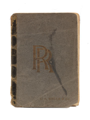 A rare and early C.S. Rolls & Company 'Rolls-Royce' sales catalogue, produced for the February 1905 Olympia show,  ((2))