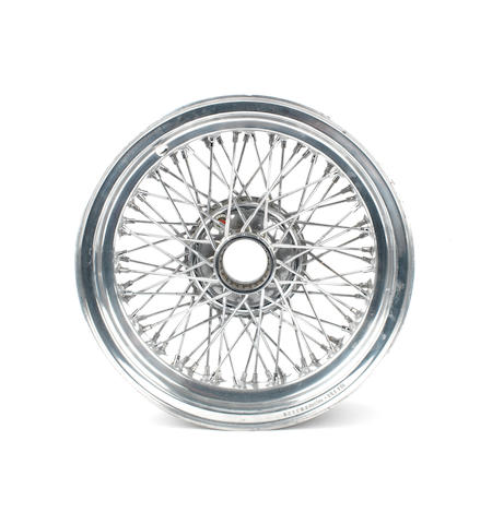 A wire-spoke Ruote Borrani Record RW 3526 wheel for Ferrari,