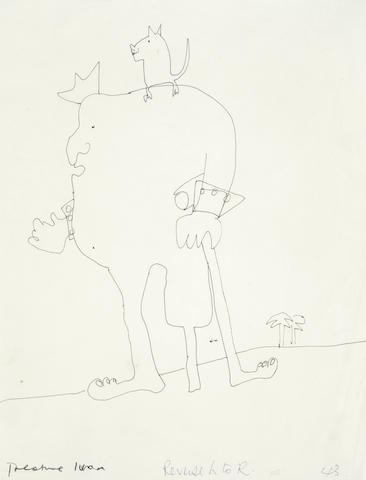 John Lennon: An original drawing entitled 'Treasure Ivan', 1964,