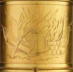 A fine and rare second quarter of the 19th century gilt brass and coromandel 'mortar' timepiece Thomas Cole, No. 1589
