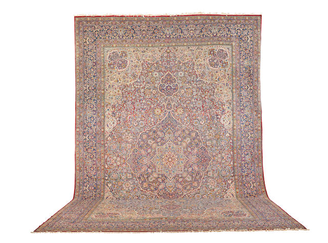 A large Kirman rug Central Persia,  412cm x 636cm