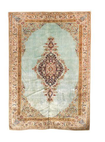 A silk Tabriz carpet North West Persia, 195cm x 289cm