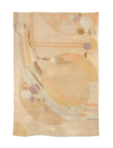 A modern Frank Lloyd Wright 'liberty balloon' carpet 170cm x 243cm