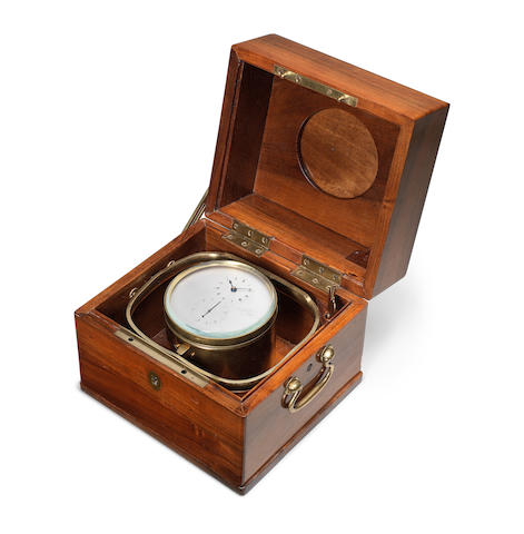 A mid 19th century French two day marine chronometer  Breguet et Fils, No 4618