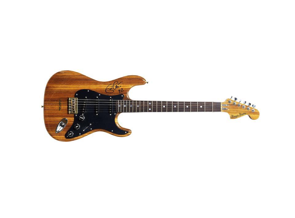 Eric Clapton: An autographed 'Eric Clapton Zebrawood One' guitar, 1976/77,