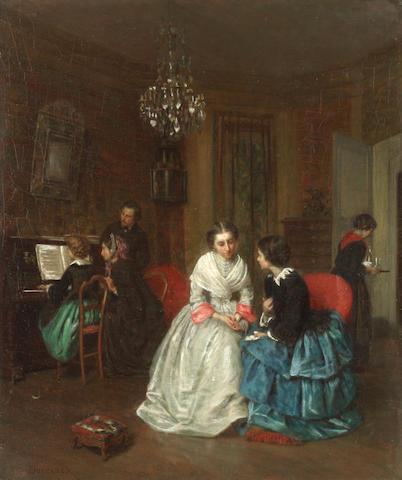 Théophile Emmanuel Duverger (French, 1821-1886) Confidences