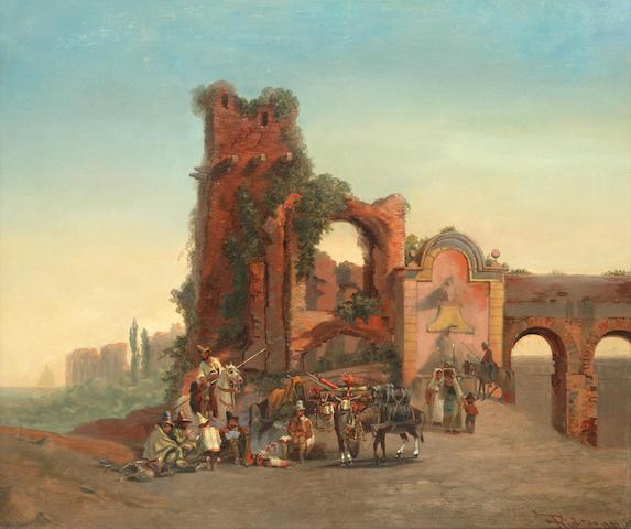 Emil Theodor Richter (German, 1801-1871) Porta Furbass, Rome