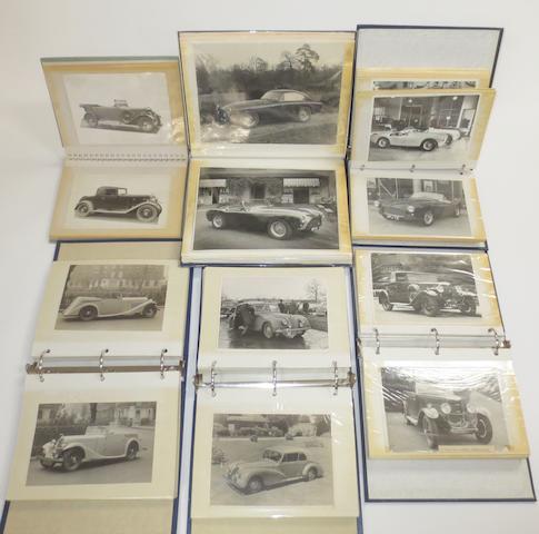 Six albums of AC car photographs,   ((6))